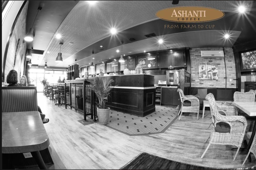 Ashanti Coffee Port Elgin Interior (Wide Angle Photo)